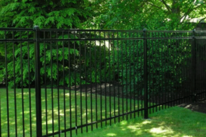 Black Metal Fence