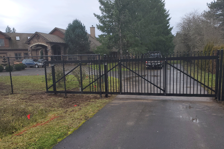 Custom Ornamental Fence Gate