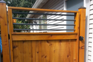 Custom Cedar Fence Gate in Portland