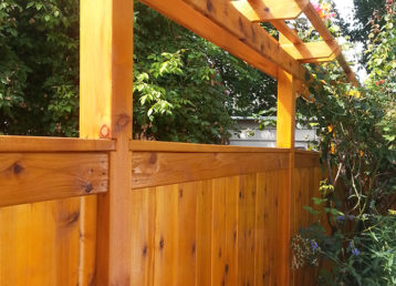 Custom Wood Cedar Fencing In Portland Oregon With Fence Stain